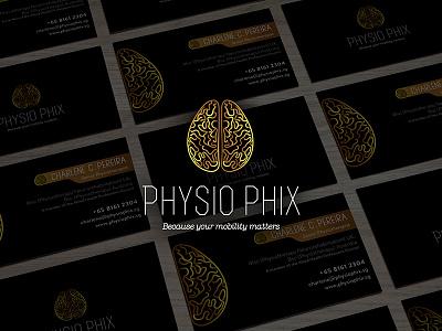 Phisio Phix namecard mark brain consellors physiophix branding logo
