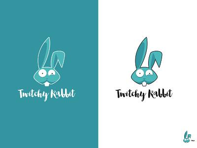 Twitchy Rabbit mark thirtylogos logochallenge 50px twitchyrabbit mascot logo