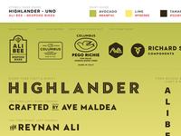 ALI BEE: Highlander Uno - Branding Stencil Guide