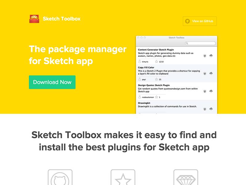 Sketch Toolbox website by Clark | Dribbble | Dribbble