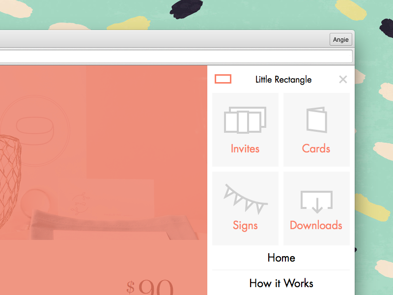 Little Menu off-canvas menu menu futura basscss little rectangle