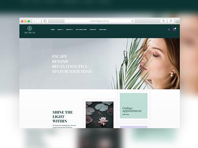 One Mind Spa | Website Design therapy meditation website design spa design spa web design agency presentation website web ux ui website concept website web design design sparkweb
