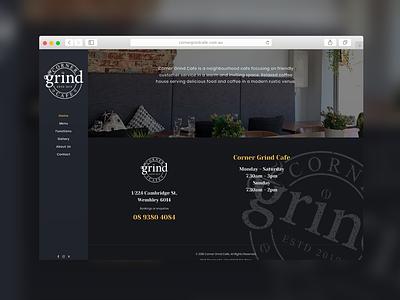 Corner Grind Cafe | Website Design cafeteria cafe coffee australia website design website concept web website web design branding logo logo design sparkweb design
