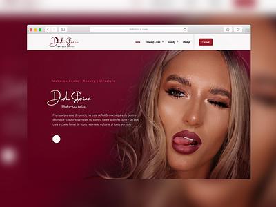 Didi Stoica | Website Design makeup artist sexy makeup website lifestyle beauty looks make up makeup website design website concept web website web design branding logo logo design sparkweb design