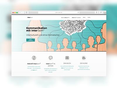 InterSem | Website Design app ui ux website design presentation website website concept website web design sparkweb design