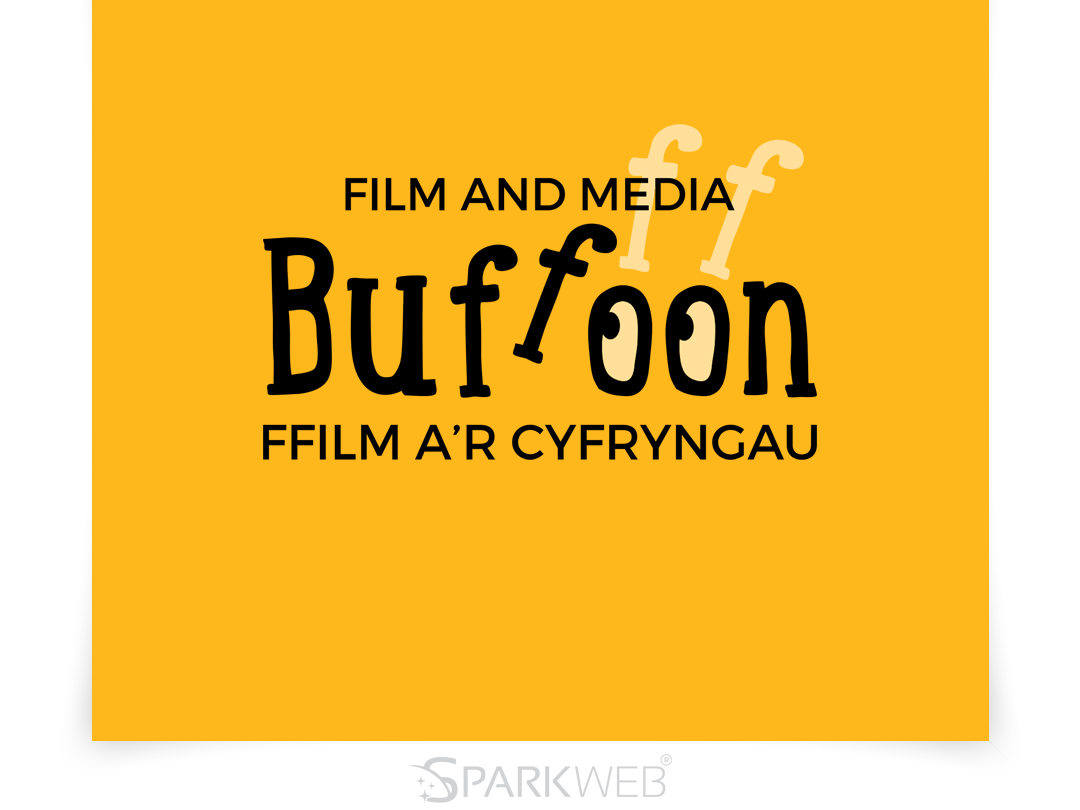 Buffoon - Logo Design buffon logo media logo film logo illustration sparkweb vector typography branding logo design logo design