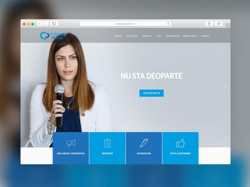CristinaPruna - Website Design politician website political website political presentation website website design company website design website concept sparkweb logo design logo design