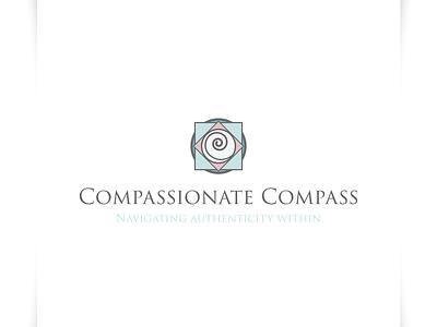 Compassionate Compass - Logo Design authentic logo navigation logo navigate logo compass logo icon illustration vector sparkweb typography branding logo design logo design
