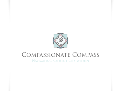 Compassionate Compass - Logo Design authentic logo navigation logo navigate logo compass logo icon illustration vector sparkweb typography branding logo design logo design