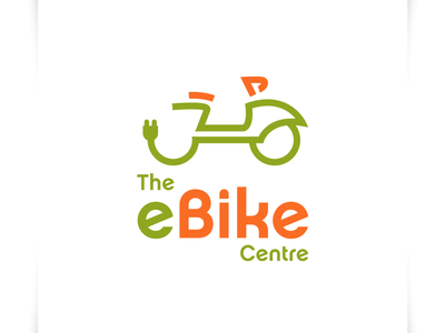 The eBike Centre - Logo Design scooter logo bycicle logo electric logo eco logo ebike logo bike logo icon illustration vector sparkweb typography branding logo design logo design