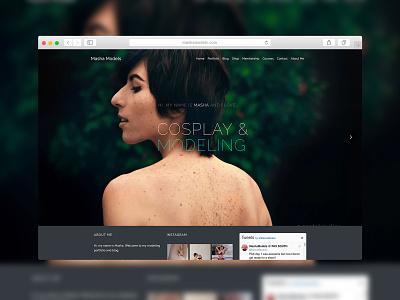 MashaModels - Website Design model web design design website modeling cosplay