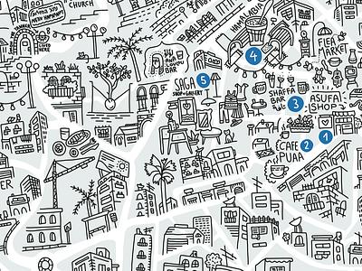 Illustrated Map of Jaffa neighborhood streets market israel telaviv yaffo jaffa illustratedmap map illustration