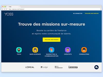 YOSS marketplace - Homepage cta homepage