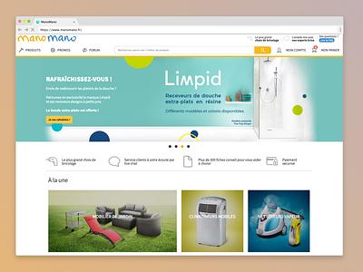 ManoMano's homepage redesign homepage e-commerce