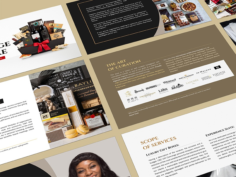 C&C Corporate Gifts Guide by Gbenga on Dribbble