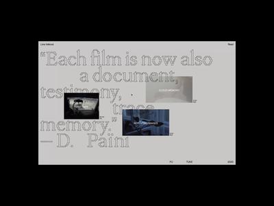 Cloud Memory — microsite webflow pangrampangram typography microsite interaction art video exhibition web
