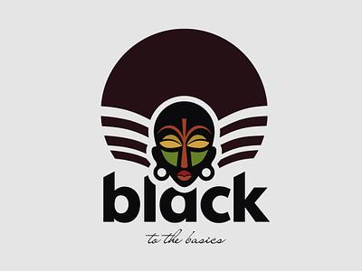 Black to the Basics library logo concept visual  identity illistration branding grapgic design logo