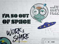 Mascot Design for Co-Working Space Interior Wall