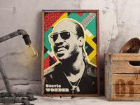Stevie Wonder Urban Poster