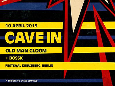 Cave In + Old Man Gloom - Live in Berlin 2019 old man gloom cave in illustration music concert flyer poster