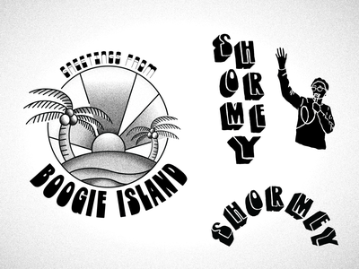 🌴 Greetings from Boogie Island 🌴 illustration graphicdesign typography art boogie island time band logo shirt design band shirt sxsw shormey tour poster band merch