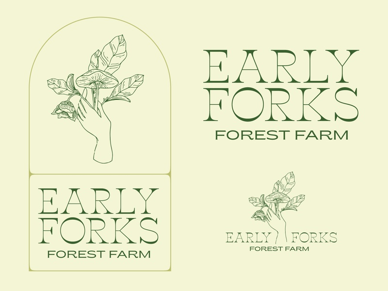 Early Forks Forest Farm logos