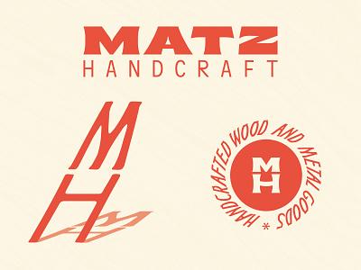 Matz Handcraft brand logos woodworking typography logodesign graphicdesign branding brand identity