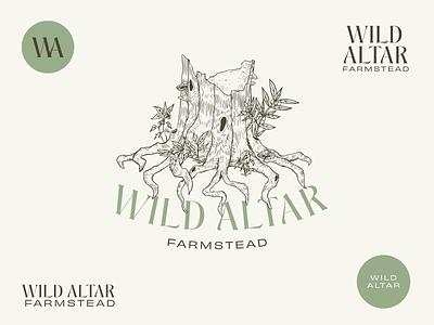 Logo & marks for Wild Altar Farmstead altar wild farmers market brand design illustration new forest typography graphicdesign logo design farming logomark branding logo