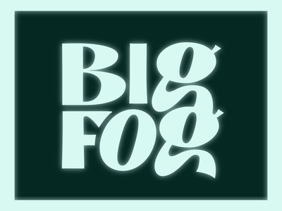 Big Fog lettering (WIP) feedbackplease glowing logo design work in progress glyphs branding logo typography logotype type design lettering
