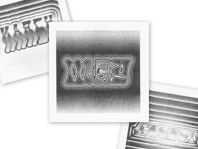 2021 Riso Calendar preorder printmaking typography type experiment calendar design riso risoprint risograph