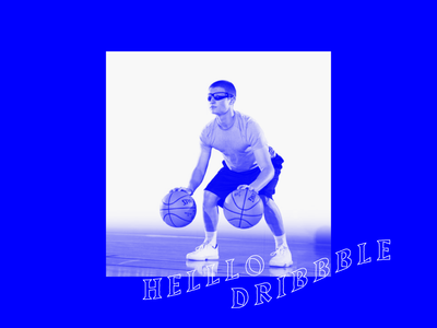 Helllo Dribbble typography sports art basketball first draft incredible wow graphic  design