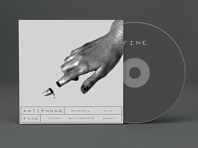 Unused Album Artwork rock music cd packaging hand lettered collage graphic design album cover album art