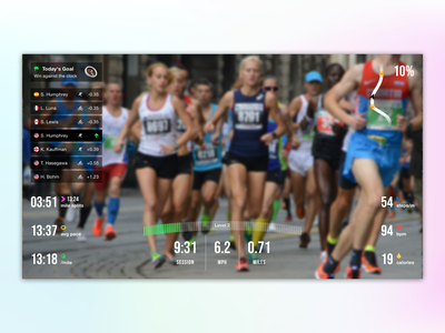 Running AR Concept sports running augmented reality energetic minimal flat
