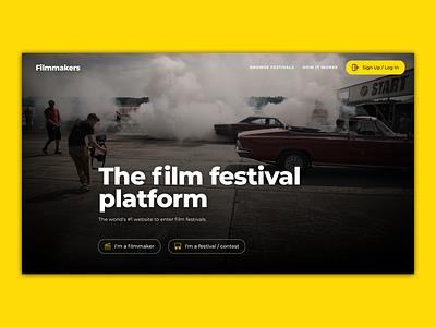 Film Festival Platform movies film festival film ui flat minimal web dark