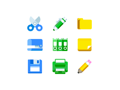 Freebie office tools icons office icon freebie