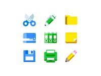 Freebie office tools icons