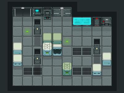 Sci fi pixel art tiles sci fi pixel art free tiles