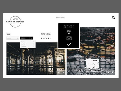 Creative Agency Project neutral pages layout design photography urban agency creative site web ux ui