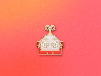 Enamel Pin Bot qmoji pin mobile robot enamel bot accesories