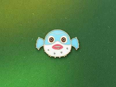 Enamel Pin Blobfish blobfish fish qmoji pin mobile enamel accesories