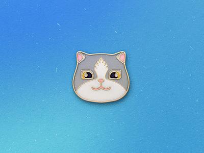 Enamel Pin Kitten qmoji pin mobile enamel cat kitten accesories