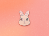 Enamel Pin Rabbit