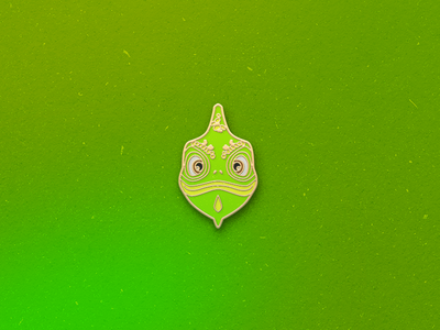 Enamel Pin Chameleon lizard reptile chameleon qmoji pin mobile enamel accesories