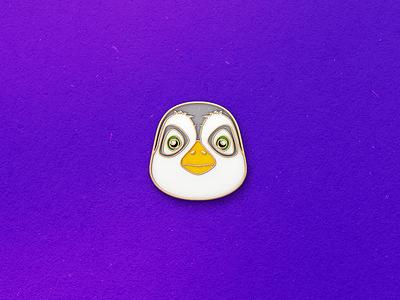 Enamel Pin Penguin qmoji pin mobile enamel cat kitten accesories