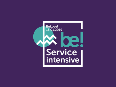 Be! logotype logo intensive education edu campus business be