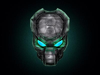 Predator photoshop alien mask exhibiotion concept acer predator