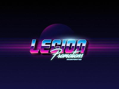 Legion Promotions logotype logo retro space 90s synth promotion legion synthwave