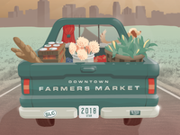 Farmers Market Poster - Vector Illustration