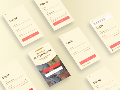 Daily UI 001 / Sign up and login