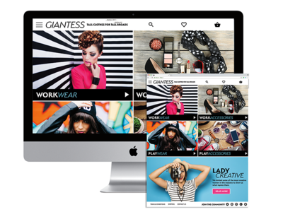 Giantess eCommerce Responsive Site